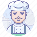 chef, cook, man icon