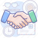 business, handshake, partner icon