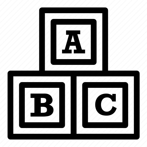 abc, alphabet, learn, learning, school icon
