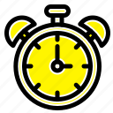 alarm, clock, education, time icon