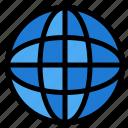 education, globe, internet, world icon
