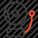 alarm, bell, school icon