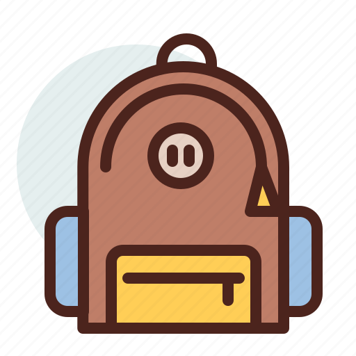 backpack, education, learn, trip icon