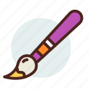 brush, draw, education, learn, paint icon