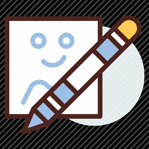 colour, education, learn, pen, signcils, write icon