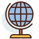 earth, education, geography, globe, learn icon