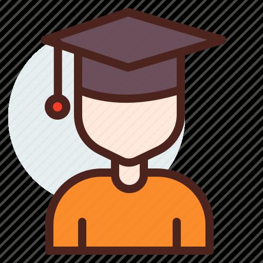 education, graduate, learn, student, university icon