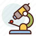 education, learn, microscope icon
