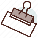 clip, education, learn, office, paper, tool icon