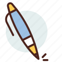 education, learn, pen, sign, write icon