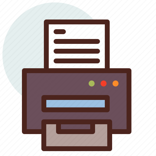 documents, education, learn, office, printer icon