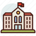 building, education, learn, school icon