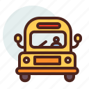 bus, education, learn, school icon