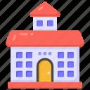 school building, institute building, institute, educational building, education centre icon