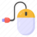 mouse, wired mouse, computer mouse, computer accessory, input device icon