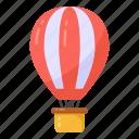 hot air balloon, flight, adventure, air balloon, parachute icon