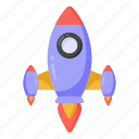 rocket, missile, spacecraft, mission, startup icon