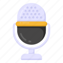 microphone, recording mic, voice recorder, audio mic, sound mike icon