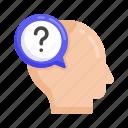 confusion, confused person, confused man, puzzled person, perplexed person icon