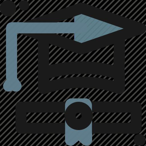 certificate, college, diploma, graduation, professional, school, university icon