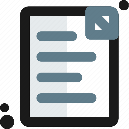 document, file, page, paper, sheet, text, type icon