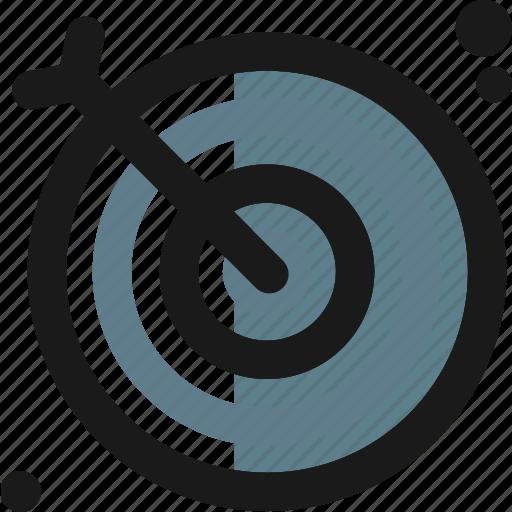 accuracy, arrive, arrow, goal, shoot, success, target icon