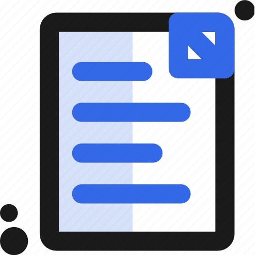 document, page, paper icon