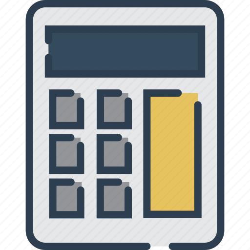 calculating, calculator, mathematics, maths, study icon