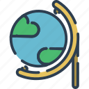 earth, education, geography, maps, planet, science, study icon