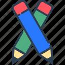 draw, education, line, pencil, school, study, tool icon