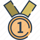 award, certificate, medal, reward, trophy, winner icon