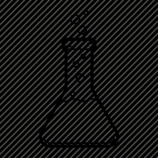 beaker, chemistry, erlenmeyer flask, flask icon