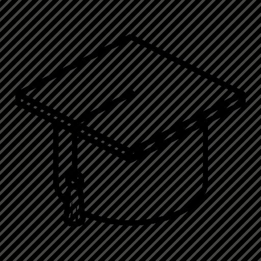 hat, mortar board, mortarboard, university icon
