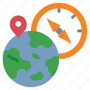 compass, geography, grid, location, map, navigation, worldwide icon