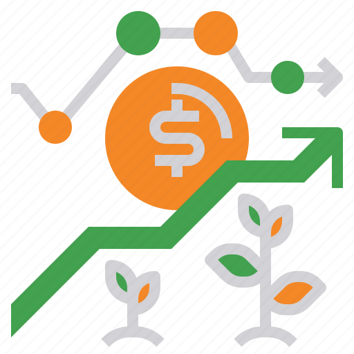 bank, business, coin, dollar, finance, money, plant icon