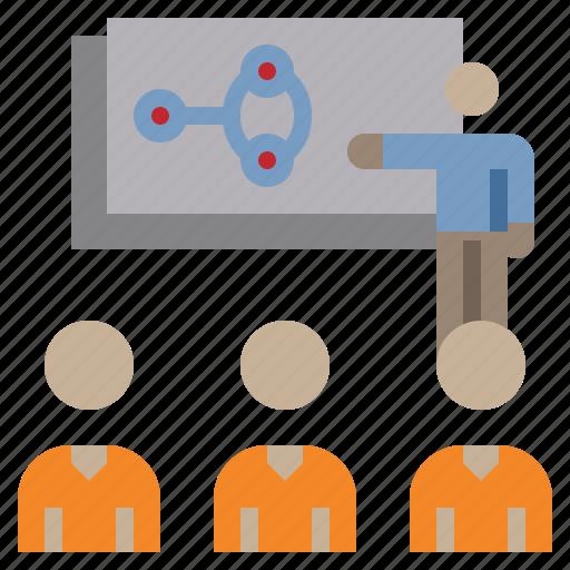 avatar, business, office, people, presentation, training, work icon