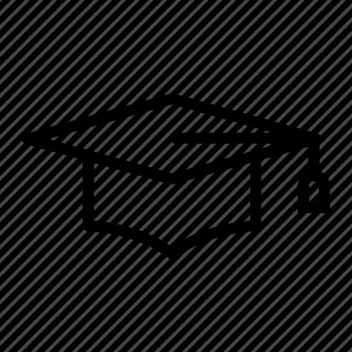 degree, graduation, graduation cap, mortar board, school, student, university icon