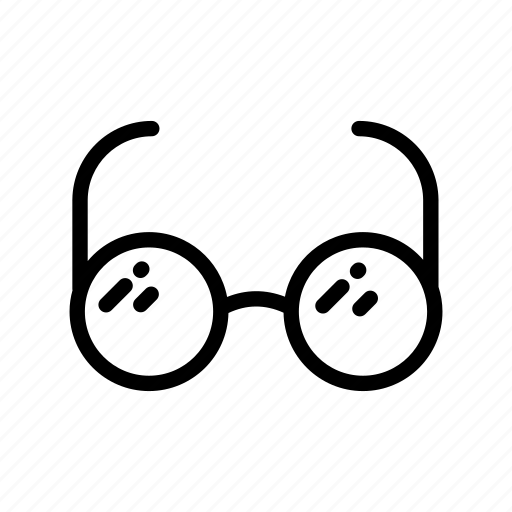 education, glass, glasses, school, scientist, spectacle, view icon