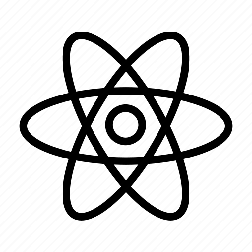 atom, education, energy, molecule, nucleus, radiation, school icon