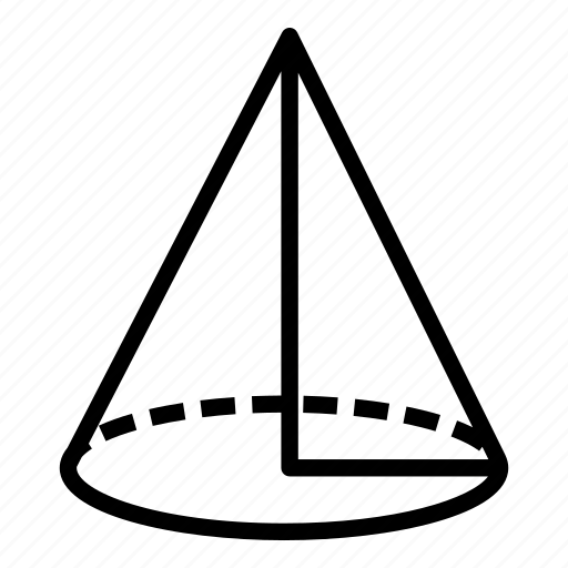 cone, design, geometry, maths, school, science, shape icon
