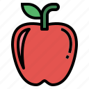apple, fruit, organic, vegan icon