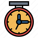 clock, networking, time, tools icon
