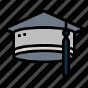 cap, graduation, mortarboard, university