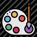 art, education, painting, palette