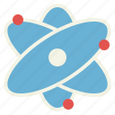 atom, electron, nuclear, physics icon
