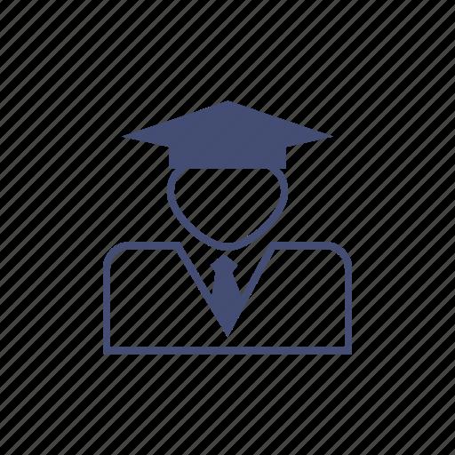avatar, graduate, man, student icon