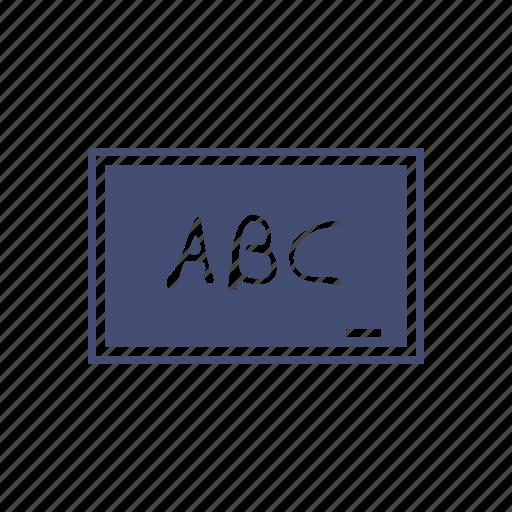 abc's, chalk board, learning, school icon