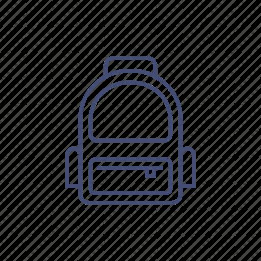 backpack, bag, bookbag, rucksack icon