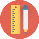 drafting, drafting tools, drawing tool, pencil, ruler icon