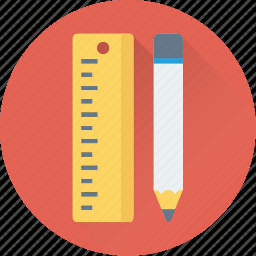 drafting, drafting tools, drawing tool, pencil, ruler icon